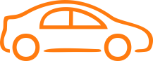 automotive car icon orange