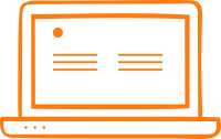 computer electronics icon orange