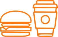 food and beverage icon orange