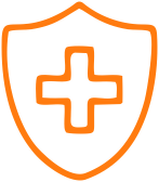 healthcare icon orange