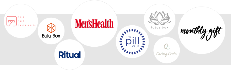 Logos of the best healthcare subscription companies