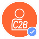 consumer to business c2b icon
