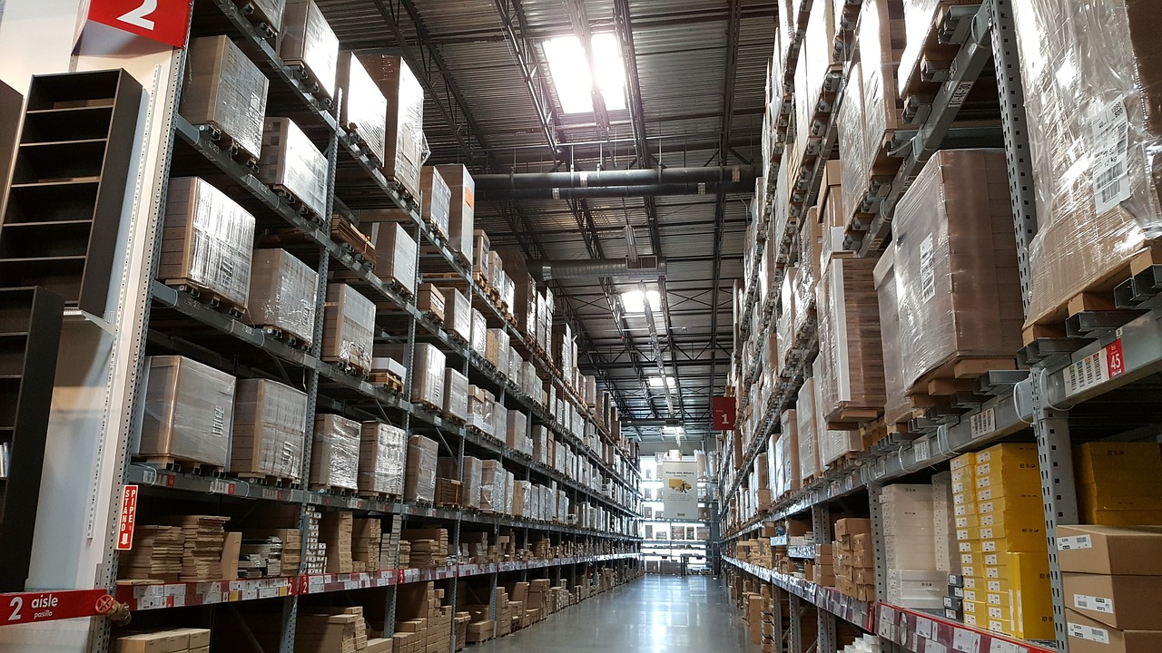 IKEA warehouse aisle