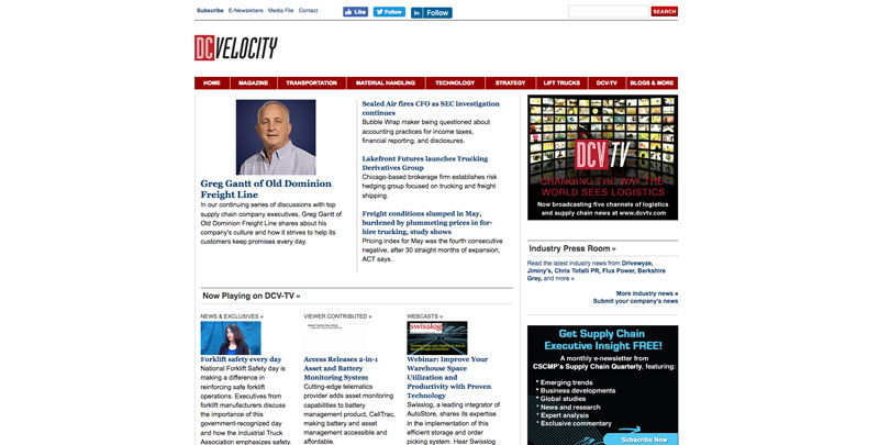 DC Velocity Website Retail News and Resources
