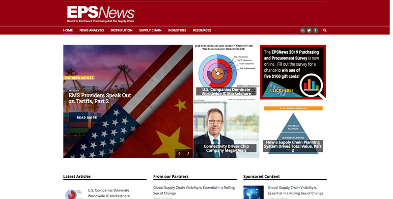 EPS News Website supply chain and retail news and resources