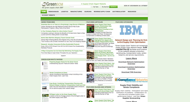 Green Supply Chain Network Website