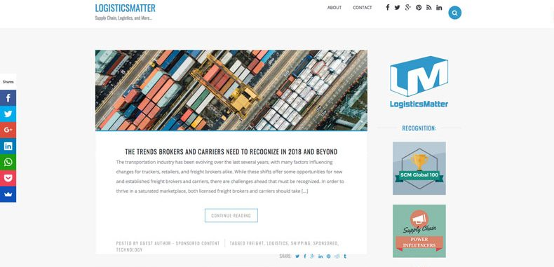 Logistics Matter Website news and resources