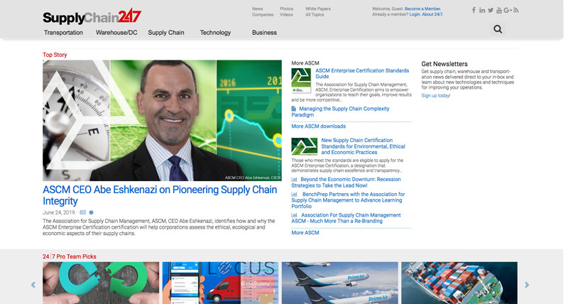 Supply Chain 24/7 Website - blog and resource