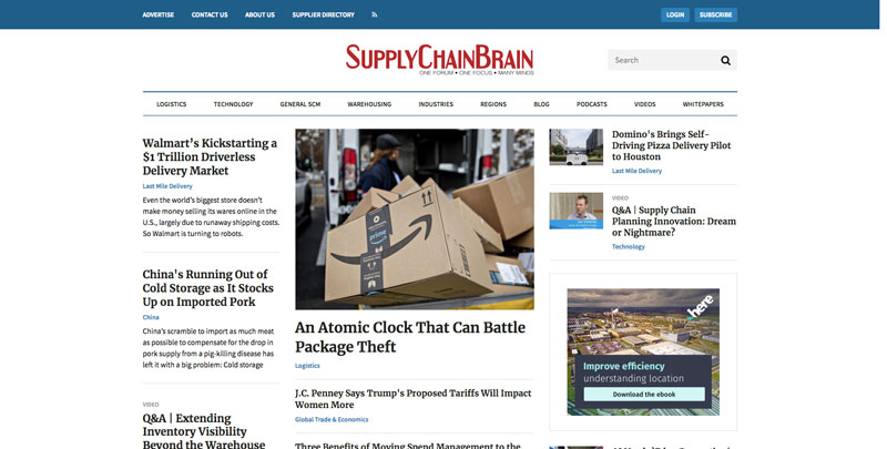 Supply Chain Brain Website - blog and resource
