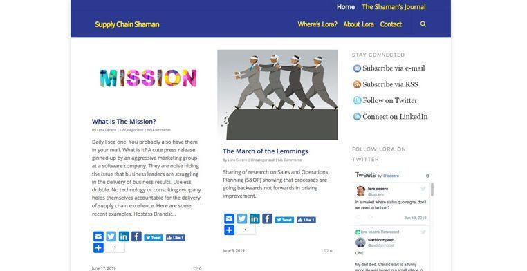 Screenshot of Supply Chain Shaman Website