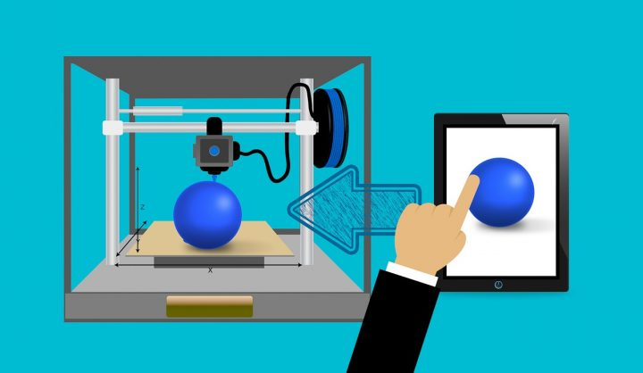 Printing from mobile device to 3D printer