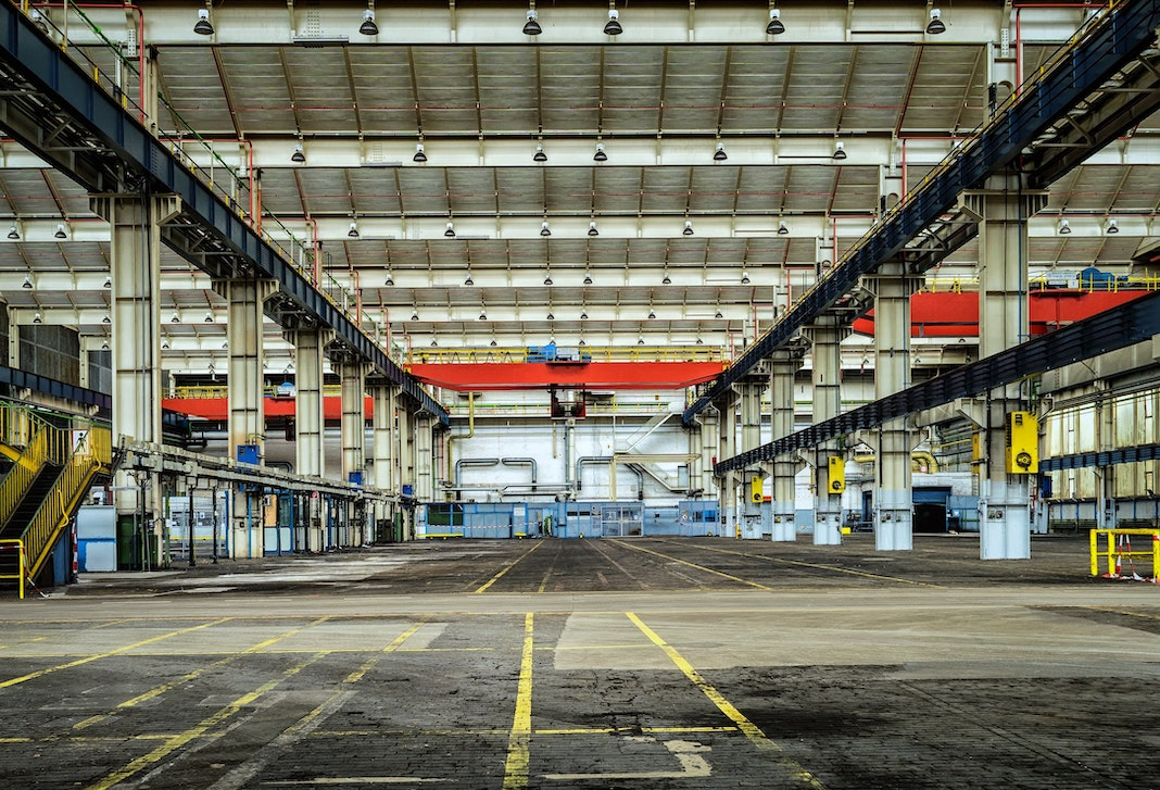 large empty warehouse building