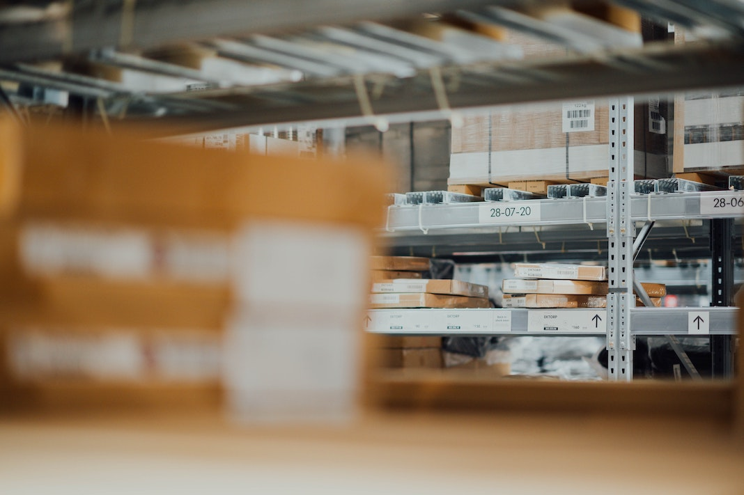 warehouse shelves supply chain